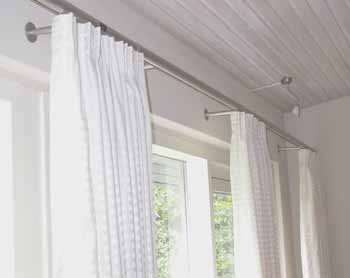 Classic curtain rail in living room;